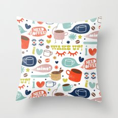 Caffeine Addict Throw Pillow