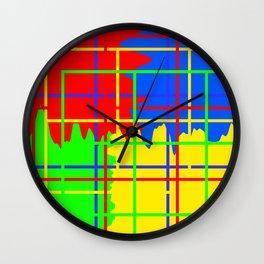 Abstract Skies Wall Clock