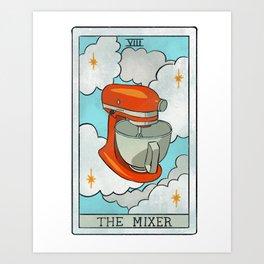 The Mixer   Baker's Tarot Art Print