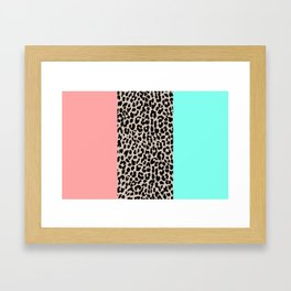 Leopard National Flag VIII Framed Art Print