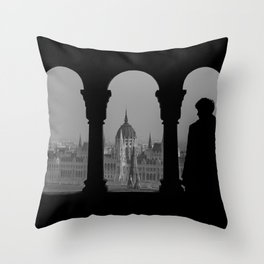 View of Parliament. Throw Pillow