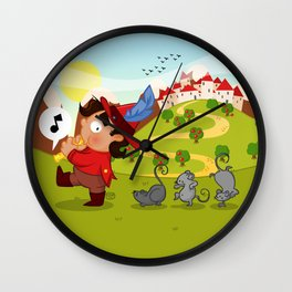 The Pied Piper of Hamelin  Wall Clock