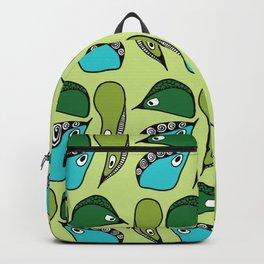 Green Dive-Plongeon vers- birds 2 Backpack