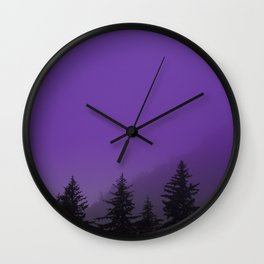 Ultra Violet Fog - Seward Alaska Wall Clock