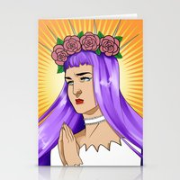 madonna Stationery Cards featuring Madonna by kittencasanova