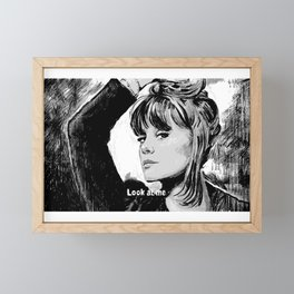 Look at me Framed Mini Art Print