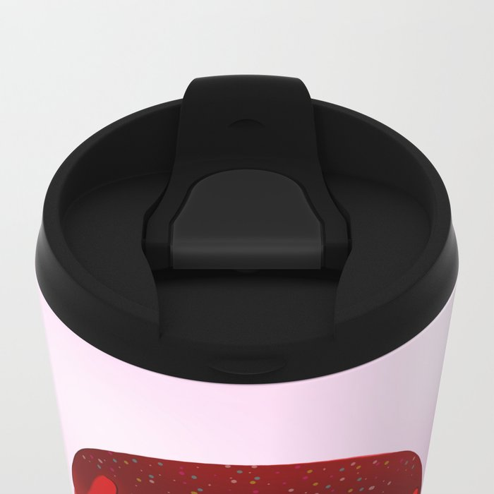 Frozen Mushroom Metal Travel Mug