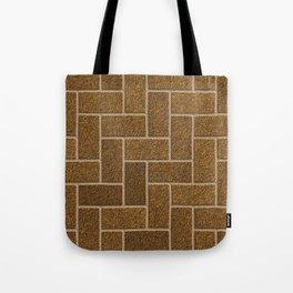 Gold Flaked Bricks Tote Bag
