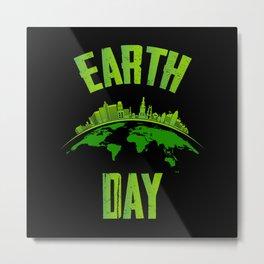 International Earth Day Shirt Restore Planet Metal Print
