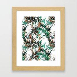 Beautiful birds in paradise Framed Art Print