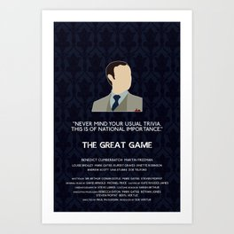 The Great Game - Mycroft Holmes Art Print
