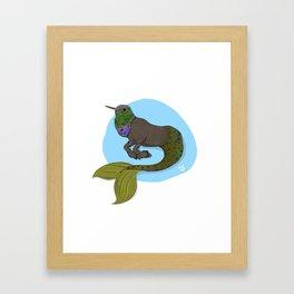 Humming Hypocampus Framed Art Print