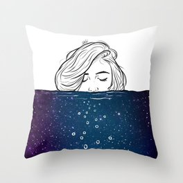 Deep breathing. Throw Pillow