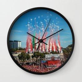 Gibraltar National Day September 10th 2015 Wall Clock