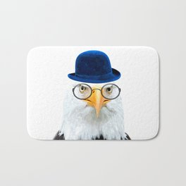 Funny Eagle Portrait Bath Mat