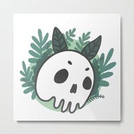 Moth Skull Metal Print