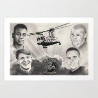 HMM-268 Memorial Drawing Art Print