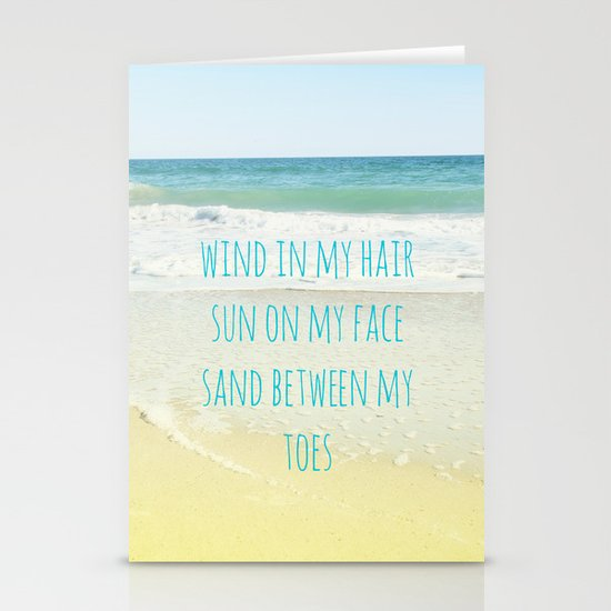 Wind In My Hair Stationery Cards