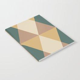 Mid Century Modern Geometric Pattern 437 Notebook