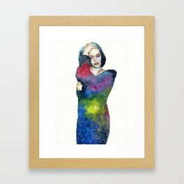 Galaxy in me Framed Art Print