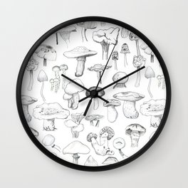 The mushroom gang Wall Clock