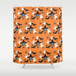 Halloween pattern Witch Monsters Shower Curtain
