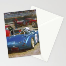 Austin Healey Waiting to Race Stationery Cards