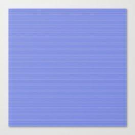 Cobalt Blue and White Horizontal Thin Pinstripe Pattern Canvas Print