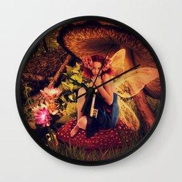 Keeper of the Secret Fairy Tale Scene Wall Clock