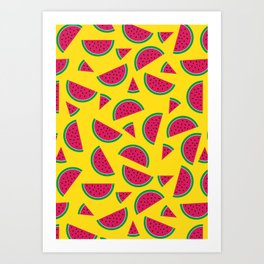 Tutti Fruiti - Watermelon Art Print