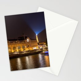 Musee d'Orsay in Paris at night Stationery Cards