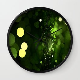 Sky Full of Diamonds (lemon & lime) Wall Clock