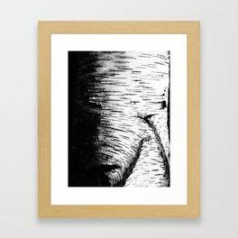 texture dead tree Framed Art Print