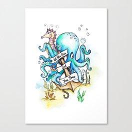 Under the Sea Children's Poster Canvas Print