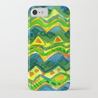 green pattern iPhone & iPod Cases featuring Green pattern by Nato Gomes