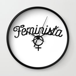 Feminista Logo Wall Clock