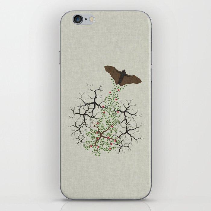 fruit bat paints forest iPhone Skin