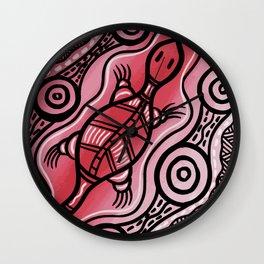 Authentic Aboriginal Art - Lizard Wall Clock