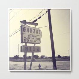 Garza's + Ritz Metal Print