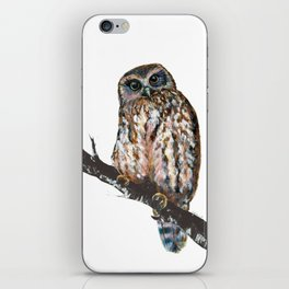 Mrs Ruru, New Zealand Morepork Owl iPhone Skin