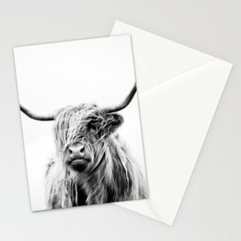 portrait of a highland cow Stationery Cards