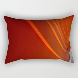 White and Red with lines Rectangular Pillow