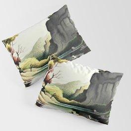 Classical Masterpiece 'Ozark Reflections' by Thomas Hart Benton Pillow Sham