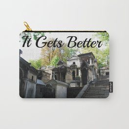"""Père Lachaise Cemetery """"It gets better"""" Carry-All Pouch"""