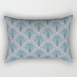 Shell Medallion green and purple layers Rectangular Pillow