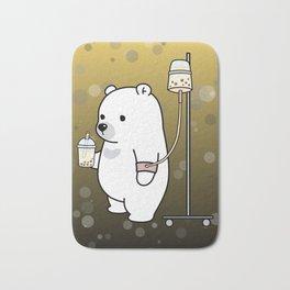 Bubble Tea Bear Bath Mat