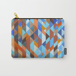 Triangle Pattern no.18 blue and orange Carry-All Pouch