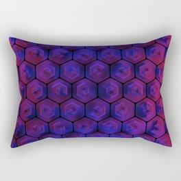 Blue hexagonal honeycomb Rectangular Pillow