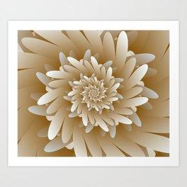 Digital Flower 3D Art Art Print