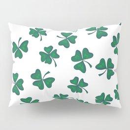 Retro Vintage St Patricks Day Green Shamrock Clover Pillow Sham